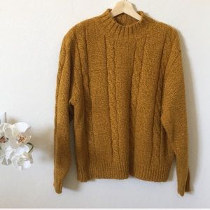 Vintage crew neck knit sweater